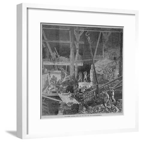 Excavation Work for the North Pier and Tidal Dam at Blackfriars Bridge, London, 1864--Framed Art Print