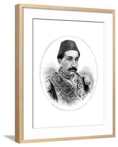 Abdul Hamid II, Sultan of Turkey, 19th Century--Framed Art Print