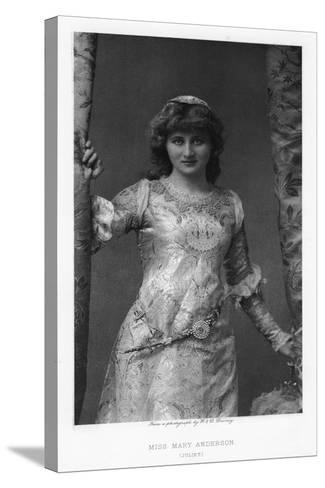 Mary Anderson, American Actress, C1895-W&d Downey-Stretched Canvas Print