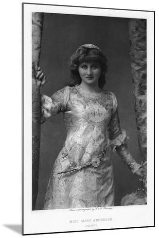 Mary Anderson, American Actress, C1895-W&d Downey-Mounted Giclee Print