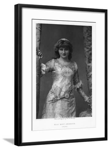 Mary Anderson, American Actress, C1895-W&d Downey-Framed Art Print