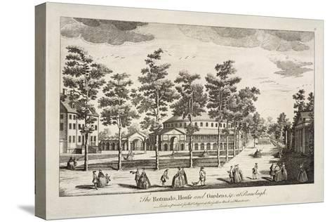 The Rotunda and Ranelagh House in Ranelagh Gardens, Chelsea, London, C1750--Stretched Canvas Print