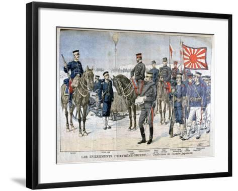 Uniforms of the Japanese Army, Manchuria, 1904--Framed Art Print