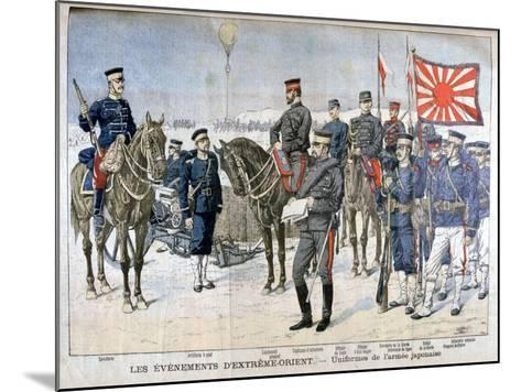 Uniforms of the Japanese Army, Manchuria, 1904--Mounted Giclee Print