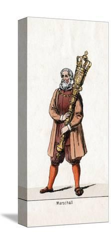Marshal Costume Design for Shakespeare's Play, Henry VIII, 19th Century--Stretched Canvas Print