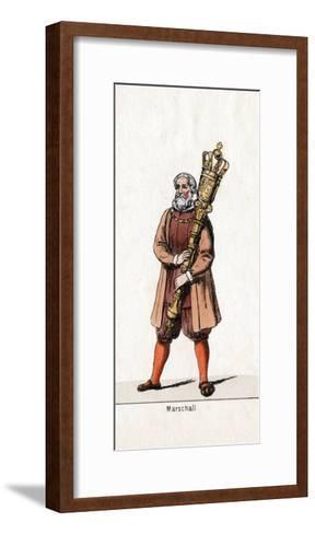 Marshal Costume Design for Shakespeare's Play, Henry VIII, 19th Century--Framed Art Print