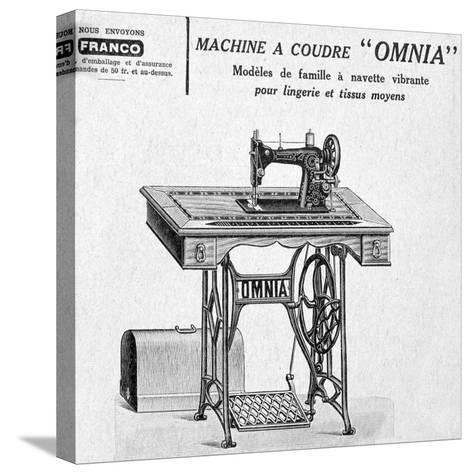 Omnia' Sewing Machines Advertisement, 20th Century--Stretched Canvas Print