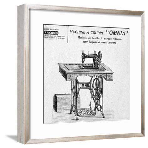 Omnia' Sewing Machines Advertisement, 20th Century--Framed Art Print