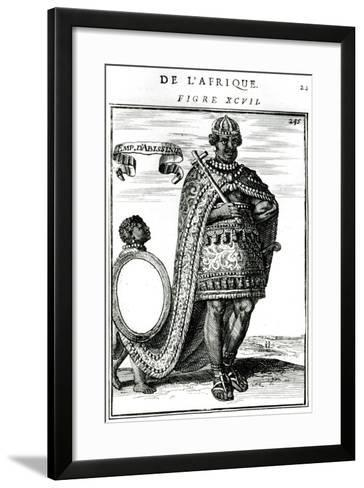 The Emperor of Abyssinia, 17th Century--Framed Art Print