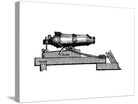 Carronade, Short Piece of Naval Ordnance with Large Calibre Chamber, Like a Mortar, 1850--Stretched Canvas Print