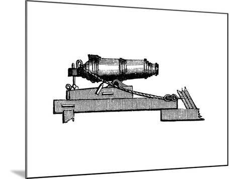 Carronade, Short Piece of Naval Ordnance with Large Calibre Chamber, Like a Mortar, 1850--Mounted Giclee Print