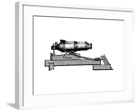 Carronade, Short Piece of Naval Ordnance with Large Calibre Chamber, Like a Mortar, 1850--Framed Art Print