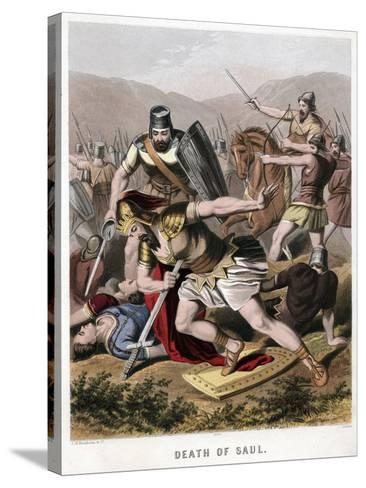 Death of Saul and His Armour Bearer in Battle with the Philistines, 1870-Kronheim & Co-Stretched Canvas Print