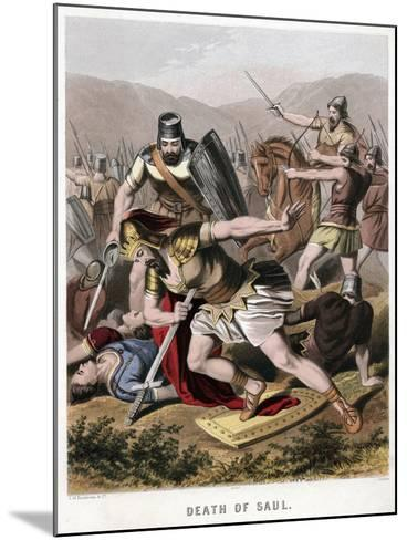 Death of Saul and His Armour Bearer in Battle with the Philistines, 1870-Kronheim & Co-Mounted Giclee Print