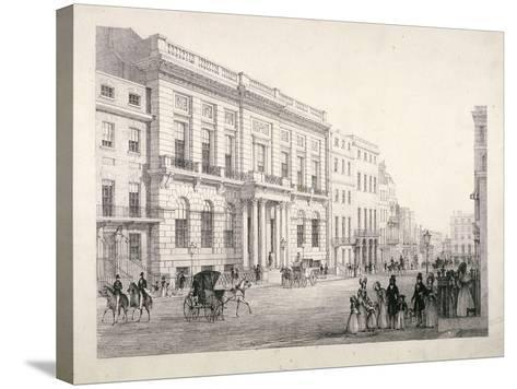 View of Oxford and Cambridge University Club, in Pall Mall, Westminster, London, C1840--Stretched Canvas Print