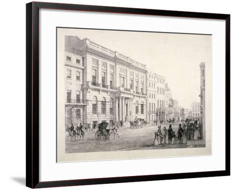 View of Oxford and Cambridge University Club, in Pall Mall, Westminster, London, C1840--Framed Art Print