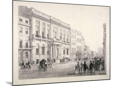 View of Oxford and Cambridge University Club, in Pall Mall, Westminster, London, C1840--Mounted Giclee Print