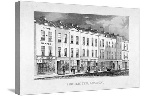 Shoreditch High Street, London, C1825--Stretched Canvas Print