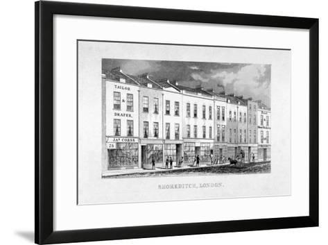 Shoreditch High Street, London, C1825--Framed Art Print