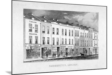 Shoreditch High Street, London, C1825--Mounted Giclee Print