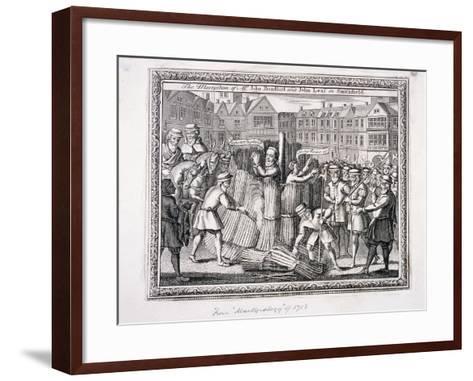 The Execution of John Bradford and John Leaf at Smithfield, 1555--Framed Art Print