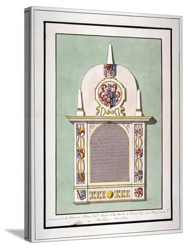 Monument to Edmund Tilney, St Leonard's Church, Streatham, London, C1800--Stretched Canvas Print