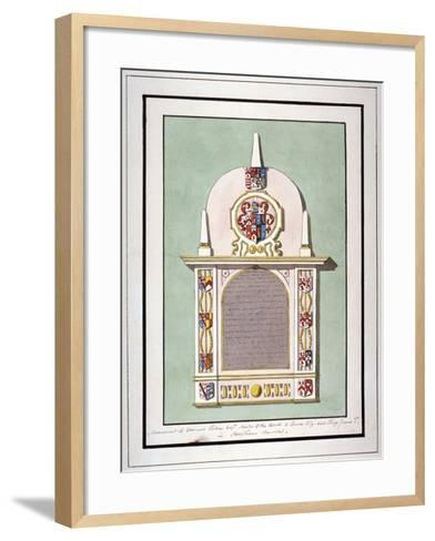 Monument to Edmund Tilney, St Leonard's Church, Streatham, London, C1800--Framed Art Print