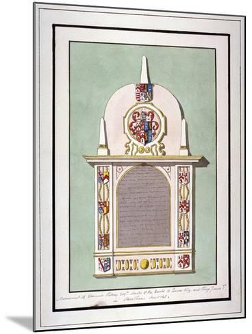 Monument to Edmund Tilney, St Leonard's Church, Streatham, London, C1800--Mounted Giclee Print