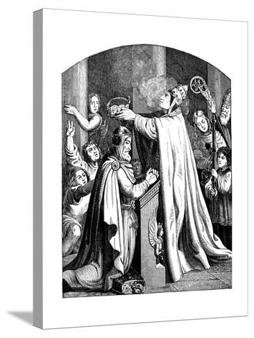 The Coronation of Emperor Charlemagne by Pope Leo III, 1840-Johann Jakob Kirchhoff-Stretched Canvas Print