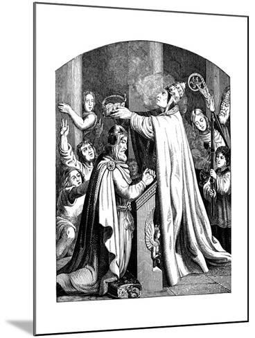 The Coronation of Emperor Charlemagne by Pope Leo III, 1840-Johann Jakob Kirchhoff-Mounted Giclee Print