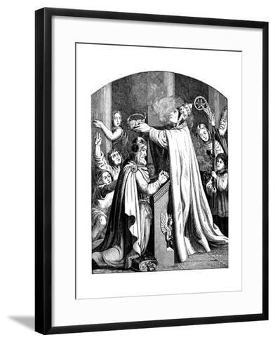 The Coronation of Emperor Charlemagne by Pope Leo III, 1840-Johann Jakob Kirchhoff-Framed Art Print