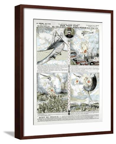 Broadsheet Showing Exploits of French Air Ace Adolphe Pegoud--Framed Art Print