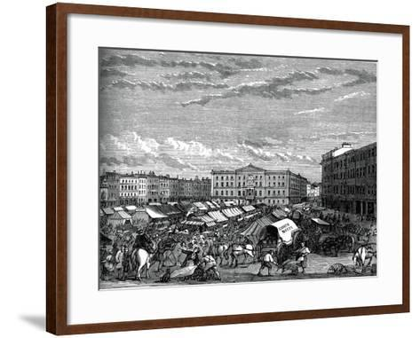 Nottingham Market Place, C1880--Framed Art Print