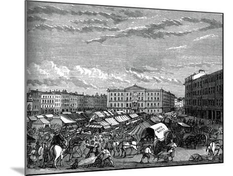 Nottingham Market Place, C1880--Mounted Giclee Print