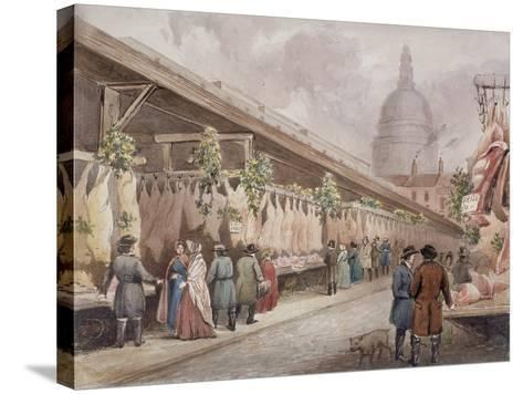 Paternoster Square, London, C1860--Stretched Canvas Print
