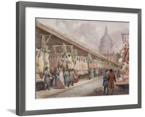 Paternoster Square, London, C1860--Framed Art Print