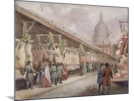 Paternoster Square, London, C1860--Mounted Giclee Print