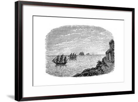 Curvature of the Earth, C1880--Framed Art Print