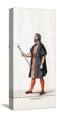 Court Usher Costume Design for Shakespeare's Play, Henry VIII, 19th Century--Stretched Canvas Print