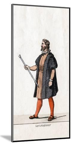 Court Usher Costume Design for Shakespeare's Play, Henry VIII, 19th Century--Mounted Giclee Print
