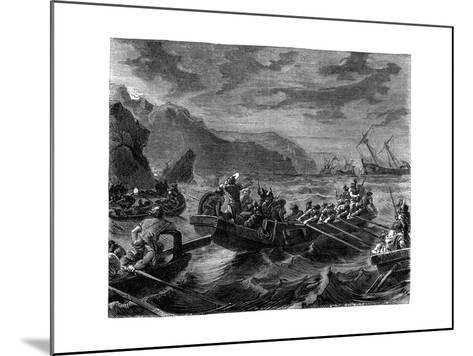 The Franks Cross the Raging Sea, 1882-1884--Mounted Giclee Print