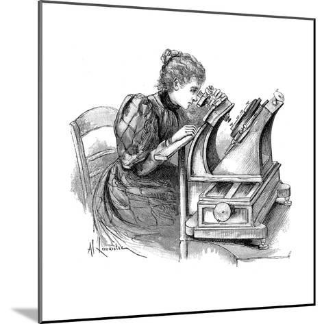 Plate Measuring Microscope, 1895--Mounted Giclee Print