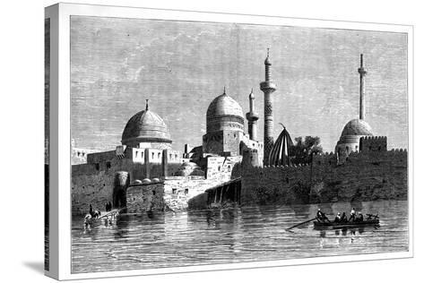 View of Mosul from the River Tigris, Iraq, C1890--Stretched Canvas Print