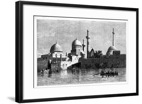 View of Mosul from the River Tigris, Iraq, C1890--Framed Art Print