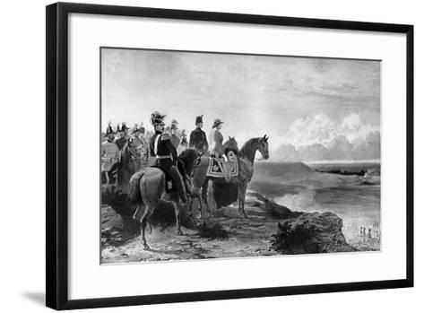Queen Victoria Reviewing Her Troops, Aldershot, 1856-C Thomas-Framed Art Print