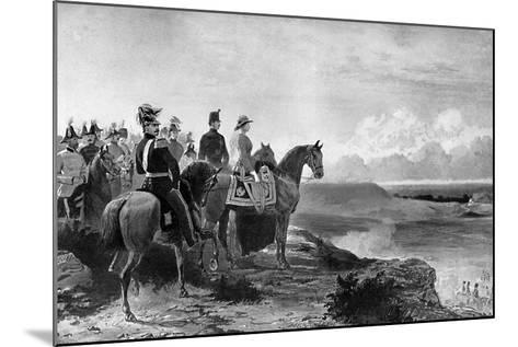 Queen Victoria Reviewing Her Troops, Aldershot, 1856-C Thomas-Mounted Giclee Print
