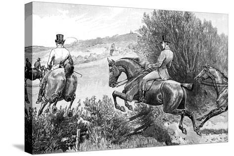 Prince Albert Hunting Near Belvoir Castle, Leicestershire, C1840s--Stretched Canvas Print