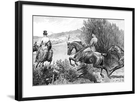 Prince Albert Hunting Near Belvoir Castle, Leicestershire, C1840s--Framed Art Print