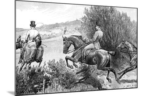 Prince Albert Hunting Near Belvoir Castle, Leicestershire, C1840s--Mounted Giclee Print