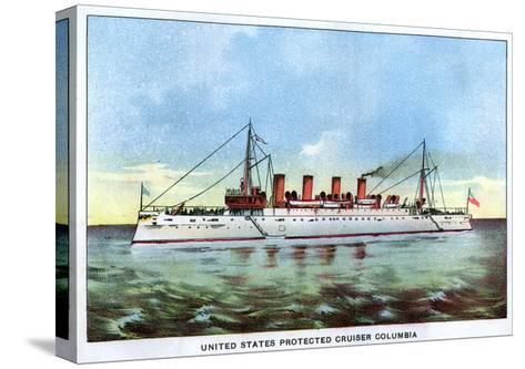United States Protected Cruiser 'Columbia', C1890S--Stretched Canvas Print